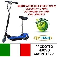 FP-TECH FP-SX-E1013-100S - Monopattino Elettrico 24 V/120 W con Sedile, Nero