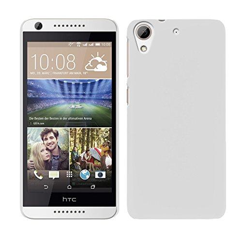 RT-TRADING HTC Desire 626/626G Dual Sim - Rubber Schutzhülle Gummiert Hybrid Hard Case Schutz Cover Etui Hülle Tasche in Weiß