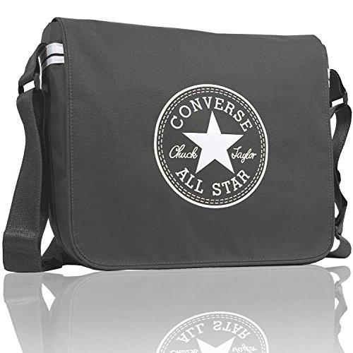 Converse Flapbag Courier Zip, dark grey, 9.86 liter, 99con80-56 (Messenger Tasche Converse Schulter)