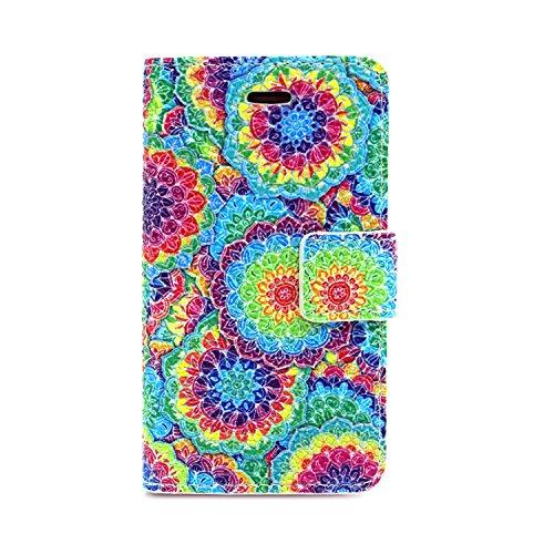 MOONCASE iPhone 4S Coque Portefeuille [Porte-cartes] Modèle Case Housse en Cuir Etui à rabat avec Béquille pour iPhone 4 / 4S -YX05 YX12