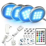 BASON LED Unterbauleuchte, LED-Küche unter Schrankbeleuchtung, Led Under Cabinet Light Kit, Set of 4.
