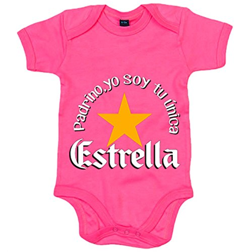 Body bebé padrino yo soy tu única Estrella - Rosa, 6-12 meses
