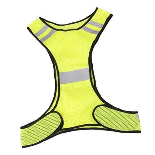 Giubbotto-Giacche-Di-Sicurezza-Riflettente-Per-Lesecuzione-Moto-Bici-Bicicletta-Ciclismo-Correre-Giallo