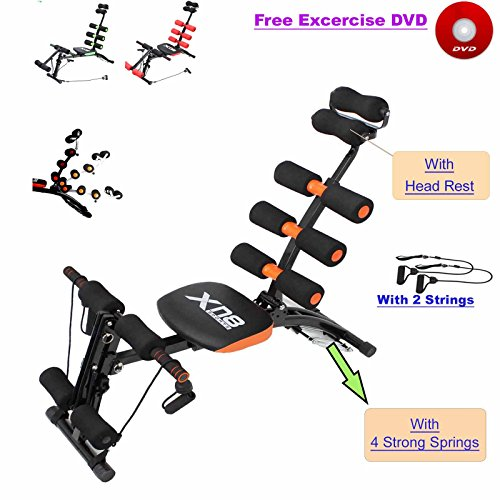 Abs Rocket Chair Abdominal Fitness Multi 6 Gym Trainer Exerciser Crunches Machine...