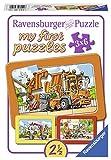 Ravensburger 06944 - Müllabfuhr, Krankenwagen, Abschleppwagen, my first puzzles 3x6 Rahmenpuzzle