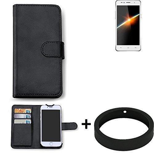 K-S-Trade Case für Siswoo C50 Longbow Schutz Tasche Hülle Walletcase schwarz Handytasche Handy Case Schutzhülle inkl. Bumper