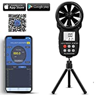 AOPUTTRIVER Digital Anemometer Handheld AP-007 Wind Speed Meter for Measuring Wind Temperature Speed CFM with MAX/MIN/AVG Data Hold,Backlight LCD for Shooting,HVAC,Drone Flying