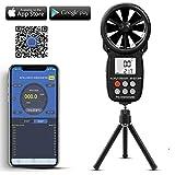 Medidor de velocidad del viento AP-007APP con anemómetro digital de mano,anemómetro inalámbrico de paleta Bluetooth ,velocidady temperatura Monitor de clima