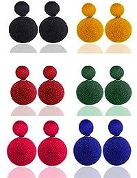 Meenaz Jewellery Velvet Colour Fancy Party Wear Ear Rings For Girls Combo Earrings For Women & Girls Jewellery...
