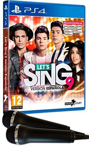 LETS SING 9   VERSION ESPAÑOLA + 2 MICROFONOS