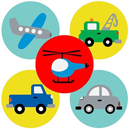 Adorebynat Party Decorations - EU Transport-Aufkleber Partei-Bevorzugungen Etikett - Junge Mädchen Fahrzeug Geburtstag Babyparty - Set 50