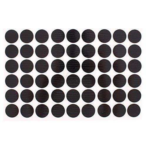 elbstklebend 21mm deckt Schraube Loch Aufkleber 54in 1, schwarz (Schwarze Und Weiße Kunststoff Tisch Deckt)