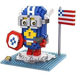 iBlock Fun Bloques construcción miniatura LOZ - Capitan America Minion