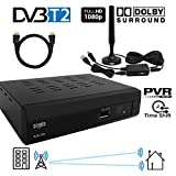 Crypto Redi 260PHA 1080P Full HD 1080 DVB-T2 Tnt Décodeur HD avec Dolby,Full Multimedia...