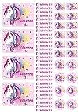 Mein Zwergenland Namensaufkleber Stickerbogen Einhorn Beauty