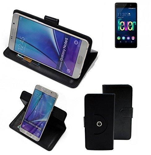 360 ° della copertura della cassa Smartphone Wiko Fever 4G, nero | Cassa del raccoglitore stand funzione Bookstyle. Migliore prezzo, migliore prestazione - K-S-Trade | perfetto Pasqua presente regalo per Pasqua