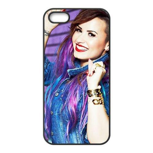Demi Lovato coque iPhone 5 5S Housse téléphone Noir de couverture de cas coque EBDXJKNBO10793