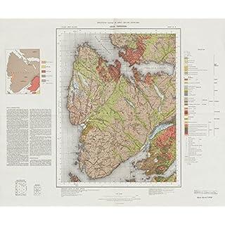 Loch Torridon geological survey map sheet 81. Scotland Applecross Peninsula - 1975 - old antique vintage map - printed maps of Scotland