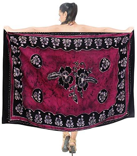 costumi da bagno sarong involucro beachwear del costume da bagno costume da bagno coprire donne del pannello esterno pareo Rosa