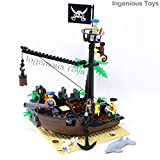 Pirate Shipwreck & Prates Mini Figures Ship Boat Treasure Island 178pcs (306)