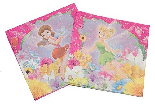 Unbekannt 20 STK. Servietten Disney Tinkerbell Fairies Geburtstag Kinderparty Kindergeburtstag Fairy Mädchen