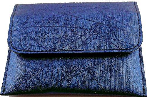 Preisvergleich Produktbild Etui für Autoschlüssel und Kreditkarten mit Abschirm Spezialgewebe zum Datenschutz für Keyless RFID NFC Funk-Chip - Metallic Blue mit Magnetverschluss -