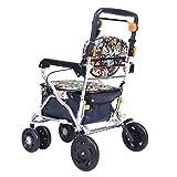 Chariot élévateur à roulettes pour personnes âgées Chariot en aluminium Walker utilisé pour acheter des magasins d'alimentation pour quatre roues Roues pistes légères à 4 roues avec siège rembourré