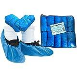 Tiga-Med - Set de 100 fundas desechables para zapatos, fuertes, grosor 3,6 g, gran calidad, color azul