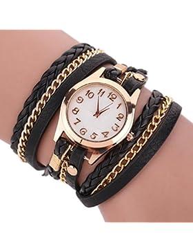 Cosanter Damen Armbanduhr Uhren Quarz mit Mode-Armband, Schwarz