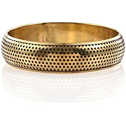 "Women Bangle Glossy Party Wear Statement Fashion Jewellery Bracelet Gold Plated 2'12"" Size"