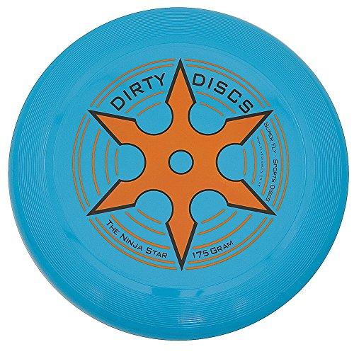 Dirty a stella Ninja Throwing-Frisbee, colore: blu Neon