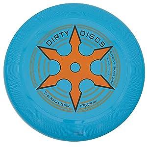 Dirty Disc Estrella Ninja en Lanzamiento de Disco del Disco Volador (Azul de neón)