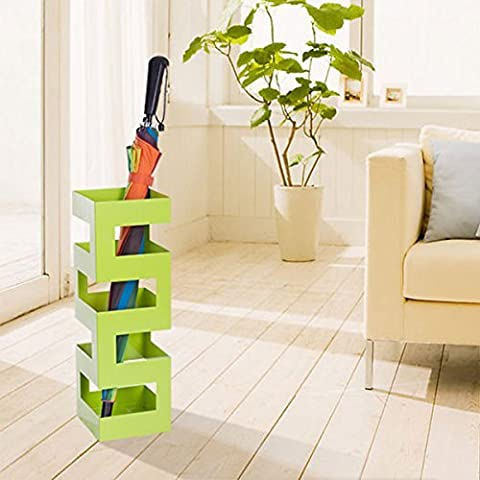 DXP Design Umbrella Stands Holder Storage Metal For Home or Office Green,Square YSJ053