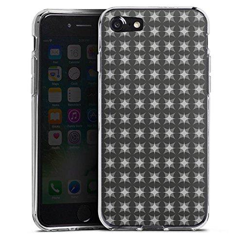 Apple iPhone X Silikon Hülle Case Schutzhülle Muster Schwarz Grau Geometrisch Silikon Case transparent