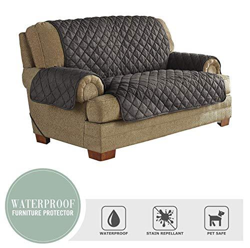 Serta | Ultimate Waterproof Furniture Protector with NeverWet Loveseat Graphite