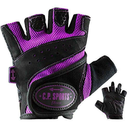 C.P. Sports Lady-Gym - Fitnesshandschuh M lila, Damen Trainings Handschuhe für Frauen