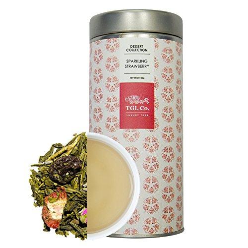 TGL Co. LUXURY TEAS Sparkling Strawberry Loose Green Leaf Tea (50 gms)