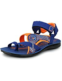 TRASE Bob Italica Blue/Orange Kids/Boys Sandals & Floaters (5 Years - 14 Years)
