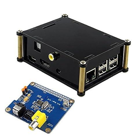 Kuman SC07C HIFI DiGi+ Digital Sound Card I2S SPDIF Optical Fiber + Protective Acrylic Case for Raspberry pi 3 2 model B B+