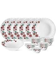 Larah by Borosil Ayana Silk Series Opalware Dinner Set