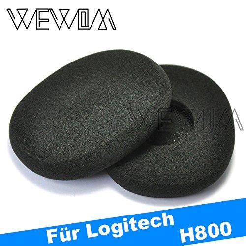 WEWOM 2 Ersatz Schaumstoff Ohrpolster für das Logitech H800 Wireless Headset