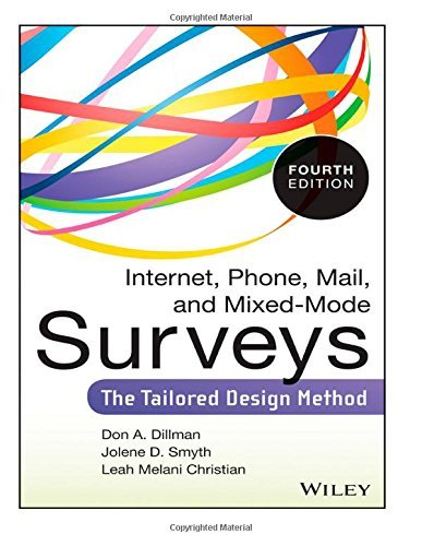 Internet, Phone, Mail, and Mixed-Mode Surveys: The Tailored Design Method: Written by Don A. Dillman, 2014 Edition, Publisher: CreateSpace Independent Publishing [Paperback]