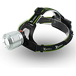 Xtreme Bright LED Camping Headlamp Silver Chrome