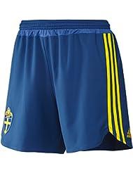 adidas Fútbol/doméstica de pantalones cortos Suecia, verano, mujer, color Azul - Dmarin/Yellow/Broyal, tamaño XL