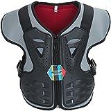 Pellor Protección Chaleco Espalda Cuerpo Protector de los Niños Anti-Caída Armadura para Ciclismo Montar en Bicicleta Esquí Monopatín (M, Negro)