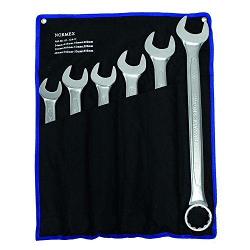 Maulschlüssel Gabelschlüssel 34-50mm XXL 6tlg. Ringschlüssel Normex