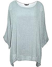 Womens Top Ladies Faux Fur Sequin Star Fashion Cotton T-Shirt Nouvelle Plus Size