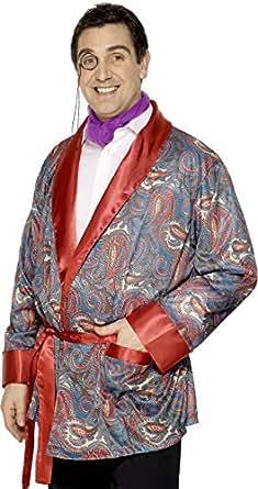 Smiffys Adult Men's Smoking Jacket, Paisley Design, Tales of England, Serious Fun, One Size, 26948