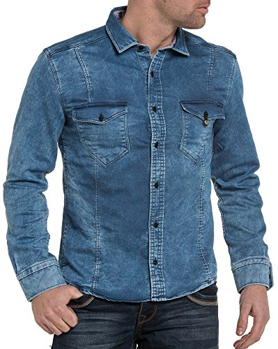 BLZ jeans - Chemise en jogg jeans bleu délavé Bleu