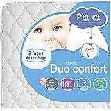 P'tit Lit - Matelas bébé Duo Confort - Epaisseur 12cm, Anti acarien